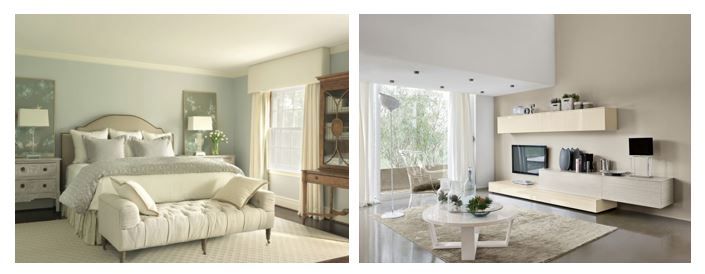 Dipingere Pareti Grigio Chiaro : Divano beige colore pareti idee per il design della casa