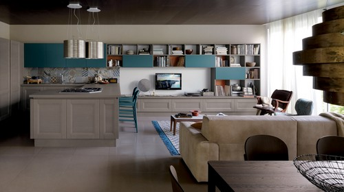 Awesome Salone E Cucina Unico Ambiente Pictures - bakeroffroad.us ...